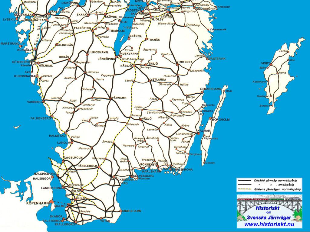 karta södra gotland Järnvägsbilder/Järnvägskartor som bakgrundsbilder till din dator  karta södra gotland