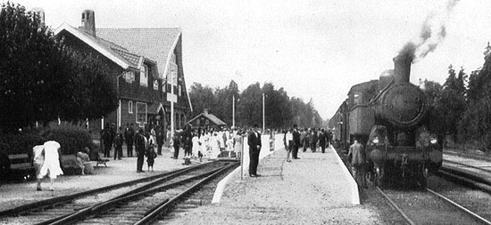 Hindås station year 1924