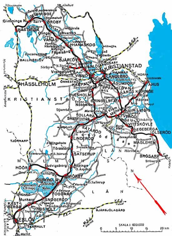 Osj Ostra Skanes Jarnvagar Karta Map