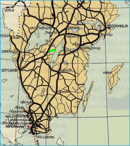 karlsborg karta Statsbanan Skövde   Karlsborg, The state railway Skövde   Karlsborg karlsborg karta