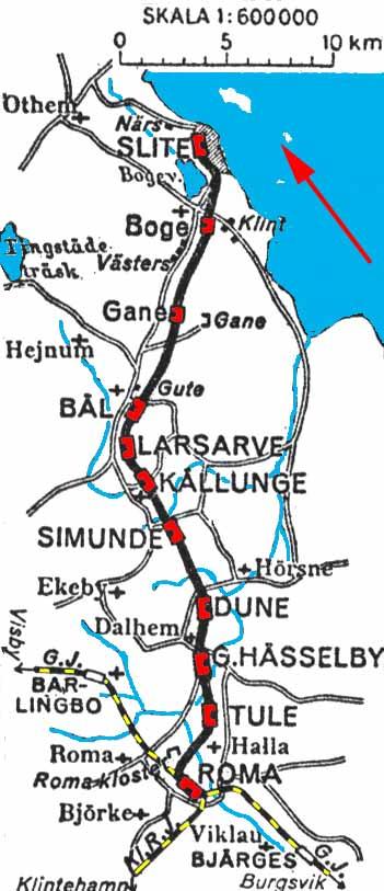 roma gotland karta SlRJ. Slite Roma Järnväg, Karta, map roma gotland karta