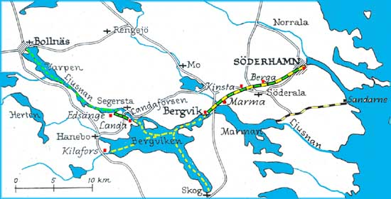 söderhamn karta Karta över Söderhamns Järnväg, Kommunikationsleden Söderhamn  söderhamn karta